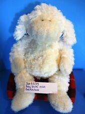 Baby Ganz Bellifuls White Beige Lamb Rattle beanbag plush(310-3533)