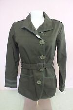 Supreme Being Brand Cute Olive Green 100% Cotton Jacket Women's Small GREAT LOOK