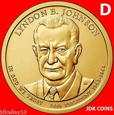 2015-D LYNDON B. JOHNSON PRESIDENTIAL DOLLAR COIN FROM MINT ROLLS UNCIRCULATED