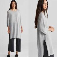 Eileen Fisher Womens Bateau Neck Tunic Fine Tencel Alpaca Size SP