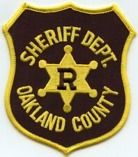 OAKLAND COUNTY MICHIGAN MI RESERVE SHERIFF POLICE PATCH