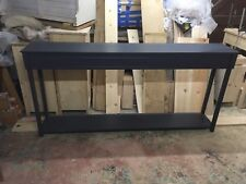 H90 W190 D33 BESPOKE CONSOLE HALL TABLE F&B RAILINGS SATIN