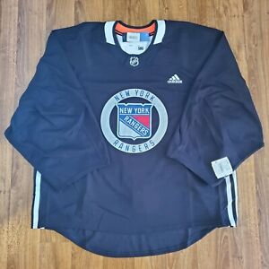 Adidas New York Rangers Player Issue Practice Jersey 58G Goalie Cut Canada Made