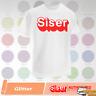 """Siser Glitter HTV T-Shirt Vinyl 20"""" x 12"""", 5 Yards - 39 COLORS"""