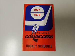 RS20 Toledo Goaldiggers 1977/78 Minor Hockey Pocket Schedule - Pabst