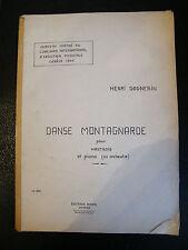Partitura Danse Montaña para Oboe y Piano Henri Gagnebin