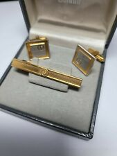 Vintage Dunhill, Two Tone, Gold and Silver plated, Cufflinks and Tie Clip