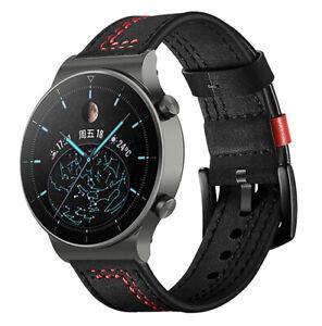 Genuine Leather Wrist Watch Strap For Huawei GT2 Pro Smart Watch