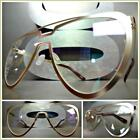 Mens or Women CLASSIC VINTAGE RETRO Style Clear Lens EYE GLASSES Rose Gold Frame