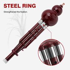 Gorgeous Metal Wire Drawing Chinese Hulusi Gourd Cucurbit Flute C Key C0H6