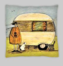 Sam Toft Estilo Crema Caravana doble cara Cushion Covers 45x45cm (18x18)