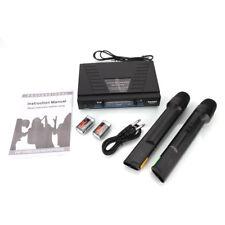 Wm-03V Dual Wireless Vhf Handheld cordless Mic Wireless Karaoke Microphone