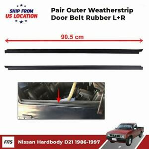 Rubber Weatherstrip Door Seal Outer Fit For 1986-1997 Nissan D21 Hardbody Pickup