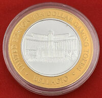 Casino Strike Bellagio .999 Fine Silver Token $10 Las Vegas 20-2935L
