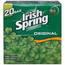 Irish Spring Deodorant Hand Bar Soap - 3.75 oz Bars - 20 ct Value Pack