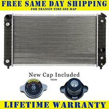 Radiator With Cap For Gmc Chevy Fits Blazer S10 Jimmy Sonoma Bravada 4.3 1826WC
