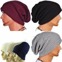 Unisex Knitted Winter Warm Oversized Ski Slouch Hat Cap Baggy Beanies 7Colors