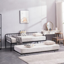 Hot Sale Square Tube Trundle and Bed Black Twin