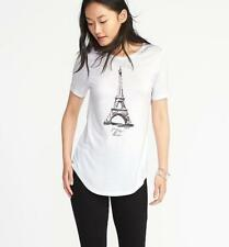 Eiffel Tower Old Navy Shirt Large Yours Truly, Paris Graphic Tee NWT