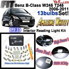 13 Bulbs Xenon White Lamps LED Interior Light Kit Package For Benz B-Class W245