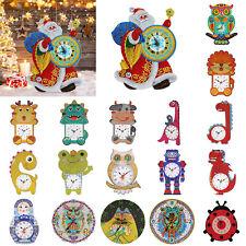 5D DIY Special Shaped Diamond Painting Clock Cross Stitch Mosaic Craft Kits Art