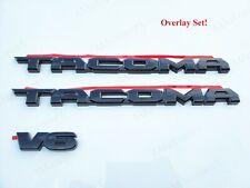 3PCS SET GLOSS BLACK EMBLEM OVERLAY KIT FIT FOR 2016-2020 TOYOTA TACOMA V6