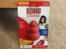 KONG Classic Small / Petit Rubber Chew Toy Treat Dispenser Red Nwt