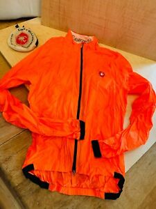 Womens Orange Cycling Castelli nano protection wind breaker MEDIUM