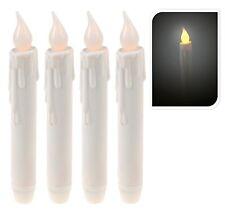 4 LED Kerzen leicht gelblich Flackernd passend für Kerzenständer Batterie Kerze