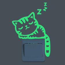 Luminous Cartoon Wall Sticker Glow The Dark Cat Sticker Fluorescent Fairy Moon