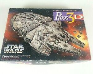 Star Wars Puzz3D MILLENNIUM FALCON 3-D 857 Piece  Puzzle Milton Bradley 1995