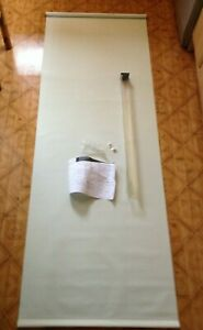 """self fit roller blind 27"""" x 76"""" wipe clean vinyl PARTS ONLY or could be a banner"""