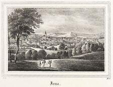 Jena-vista general-Saxonia-litografía 1834/1835