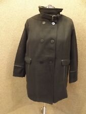 Sporty Fresh NY Womens Plus Sz 3X Black Peacoat Strap Collar Winter Coat NEW NOS