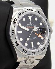 Rolex Explorer II 216570 Steel Black Dial 42mm Men's Watch PAPERS MINT CONDITION