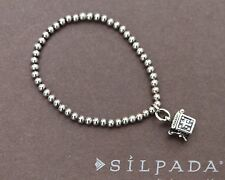 SILPADA Pre-teen Sterling Silver Stretch Bracelet with Prayer Box Charm B1289