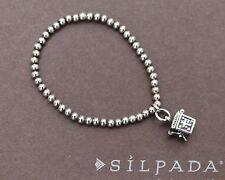 SILPADA Pre-teen Sterling Silver Stretch Bracelet with Prayer Box Charm B1289