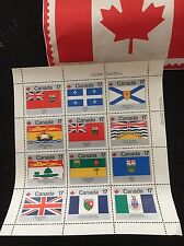 CANADA stamps,Flags, 17 cents, block of 12- ISSUED TO CELEBRATE CANADA DAY 1979