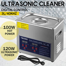 Durable 3l Timer Ultrasonic Cleaner Ultra Sonic Bath Cleaning Basket Local