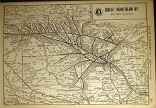 1925 GREAT NORTHERN RAILROAD EASTERN SYSTEM MAP NORTH DAKOTA DEPOT HISTORY