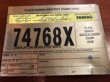 1992 PA Pennsylvania Resident Hunting License Paper Cardboard