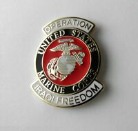 OPERATION IRAQI FREEDOM USMC MARINES MARINE MILITARY LAPEL PIN BADGE 1 INCH