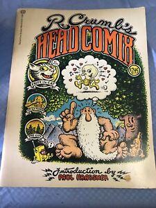 Vintage 1970 1st Ballantine Printing R Crumb's Head Comix Paperback Book
