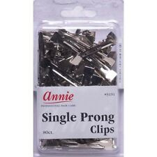Annie Single Prong Clips Hair Pins Wave Clamps Alligator Duck Bill 80CT #3191