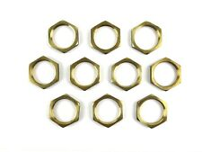 10x 1 Npt Female Thread Brass Pipe Valve Fitting Hex Lock Nut Qty 10
