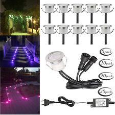 1-50er 12V Ø30mm RGB/WW LED Einbaustrahler Leuchte Außen Minispot wasserdicht