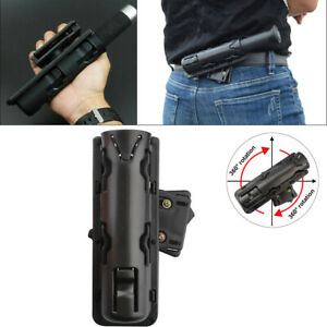 360 degrees Baton Holder Expandable Swivelling Pouch Case Telescopic Holster NEW