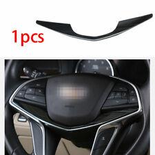 Black Titanium Fit For Cadillac CT6 2016-2020 Steering Wheel Strip Cover Trim 1X