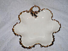 White Gold Scalloped Candy Dish Bowl Hollywood