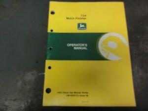 John Deere 724 Mulch Finisher Operator's Manual   OM-N200133 Issue H8